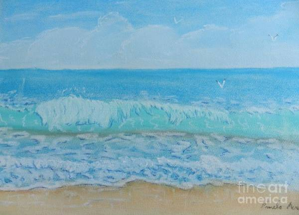 Wall Art - Painting - Lovely Summer Waves by Pamela  Meredith