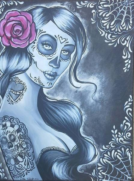 Tattoo Flash Painting - Lovely by Willow Vielguth