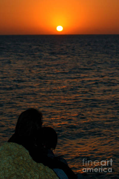 Photograph - Lovers At Sunset In Key West Florida by Susanne Van Hulst