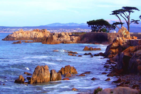 Monterey Park Photograph - Lover's Point  by Art Block Collections