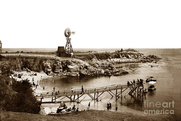 Lovers Point Beach And Old Wooden Pier Pacific Grove August 18 1900 Art Print