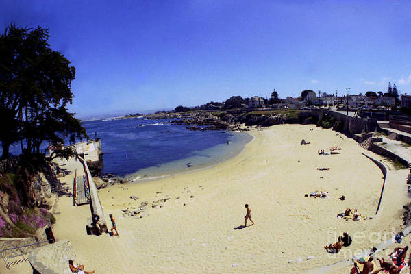 Photograph - Lovers Point Beach Pacific Grove Calif. Taken With A 17mm Fish-eye Lens 1969 by California Views Archives Mr Pat Hathaway Archives