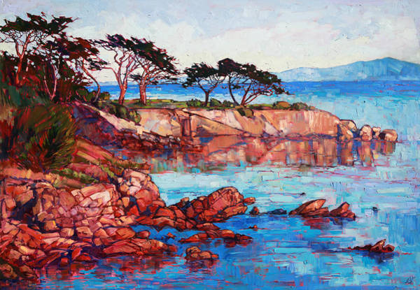 Monterey Wall Art - Painting - Lovers Point by Erin Hanson
