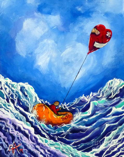 Follow Me Painting - Love's Castaway by Jackie Carpenter