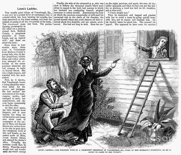 Mistress Photograph - Loves Ladder, 1879 by Granger