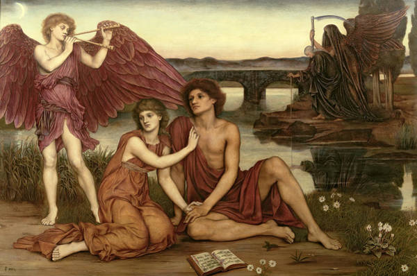 Painting - Love's Passing by Evelyn De Morgan