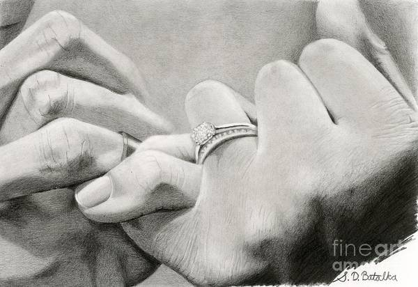 Fingernail Wall Art - Drawing - Love's Promise by Sarah Batalka
