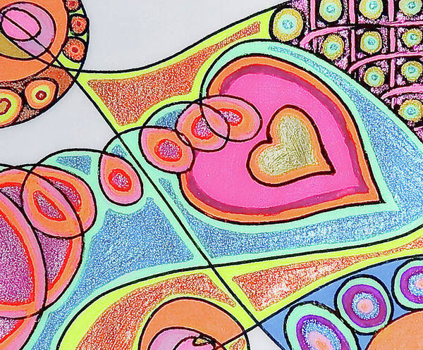 Soothing Drawing - Loving Heart Connection by Sheree Kennedy