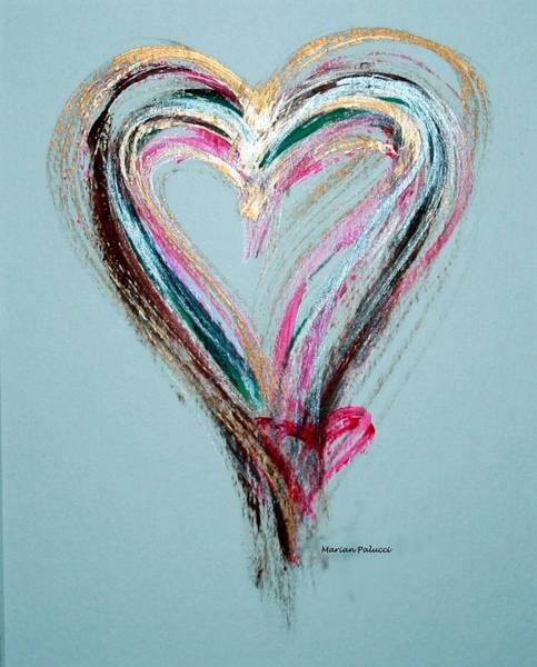 Painting - Loving Heart by Marian Palucci-Lonzetta