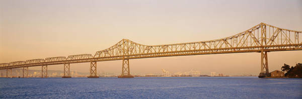 San Francisco Harbor Photograph - Low Angle View Of A Bridge, Bay Bridge by Panoramic Images