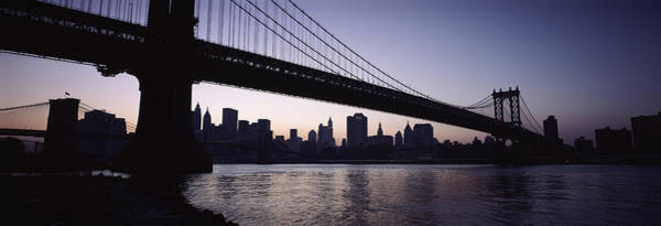 Wall Art - Photograph - Low Angle View Of A Bridge, Manhattan by Panoramic Images