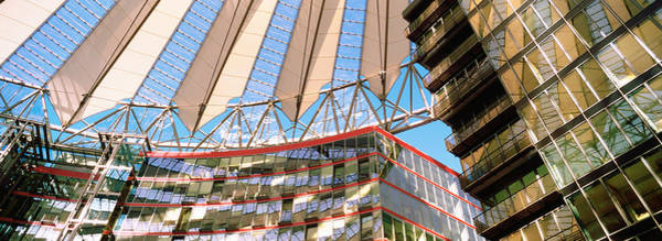 Sony Center Photograph - Low Angle View Of A Building, Sony by Panoramic Images