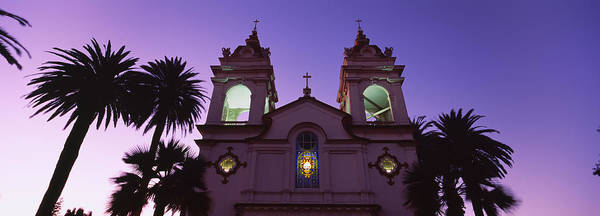 Silicon Valley Wall Art - Photograph - Low Angle View Of A Cathedral Lit by Panoramic Images