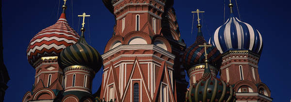Onion Domes Photograph - Low Angle View Of A Church, St. Basils by Panoramic Images