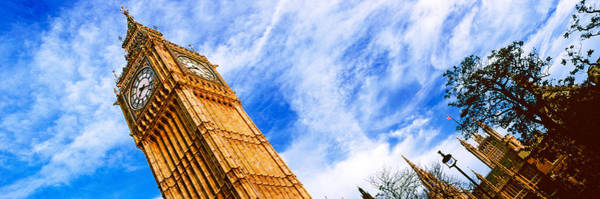 Houses Of Parliament Wall Art - Photograph - Low Angle View Of A Clock Tower, Big by Panoramic Images