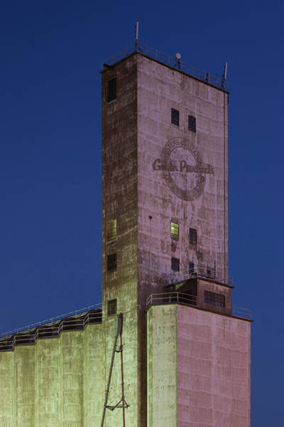 Grain Elevator Photograph - Low Angle View Of A Grain Elevator by Panoramic Images