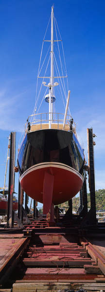 Dry Dock Photograph - Low Angle View Of A Sailing Ship by Panoramic Images