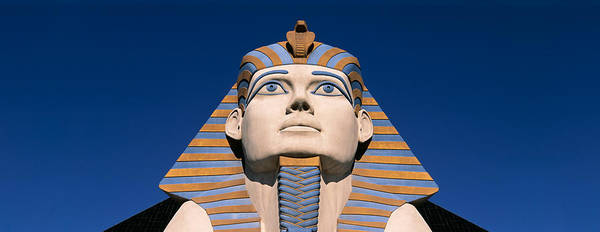 Wall Art - Photograph - Low Angle View Of A Sphinx, Luxor Hotel by Panoramic Images