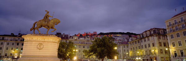 Lisbon Castle Photograph - Low Angle View Of A Statue, Castelo De by Panoramic Images