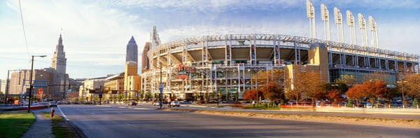 Cleveland Scene Photograph - Low Angle View Of Baseball Stadium by Panoramic Images