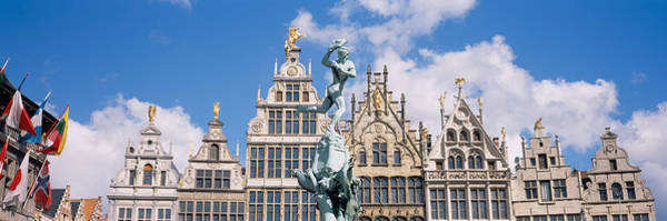 Antwerp Photograph - Low Angle View Of Buildings, Grote by Panoramic Images