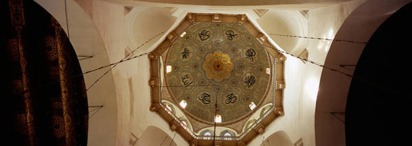 Damascus Photograph - Low Angle View Of Ceiling In A Mosque by Panoramic Images