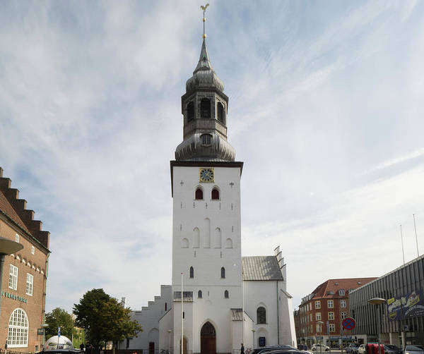 The Clock Tower Photograph - Low Angle View Of Church, Budolfi by Panoramic Images