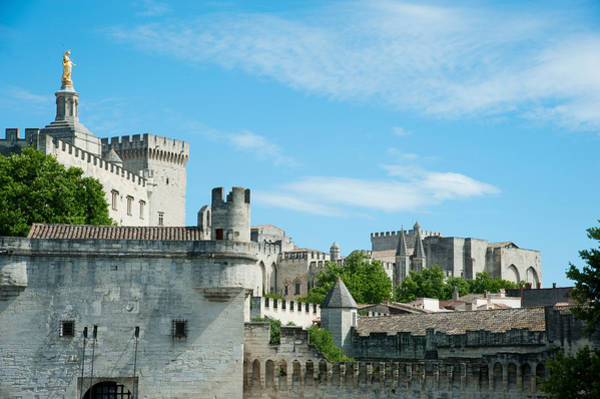 Rhone River Photograph - Low Angle View Of City Walls, Pont by Panoramic Images