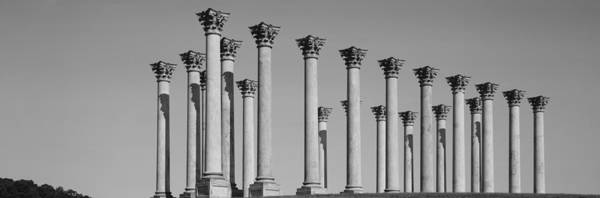 Colonnade Photograph - Low Angle View Of Columns, National by Panoramic Images