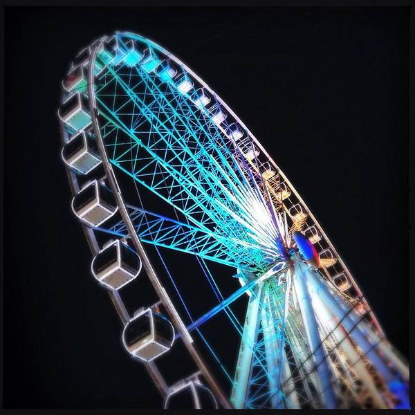 Art Prints Photograph - Low Angle View Of Illuminated Ferris by Kenneth Shelton / Eyeem