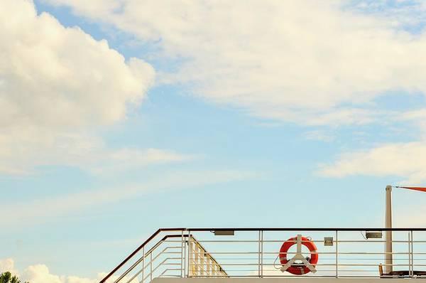 Bratislava Photograph - Low Angle View Of Lifeguard Ring On by Zuzana Janekova / Eyeem