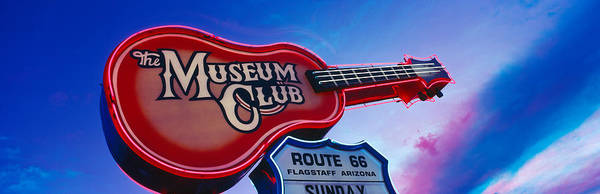 Flagstaff Photograph - Low Angle View Of Museum Club Sign by Panoramic Images