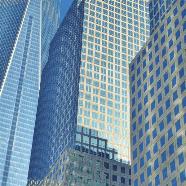 Glass Photograph - Low Angle View Of Office Buildings by Eva Alavez / Eyeem