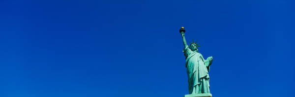 Statue Photograph - Low Angle View Of Statue Of Liberty by Panoramic Images
