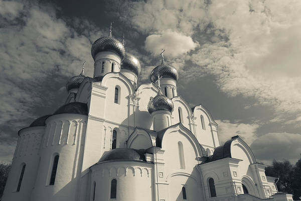 Onion Domes Photograph - Low Angle View Of The Uspenski by Panoramic Images
