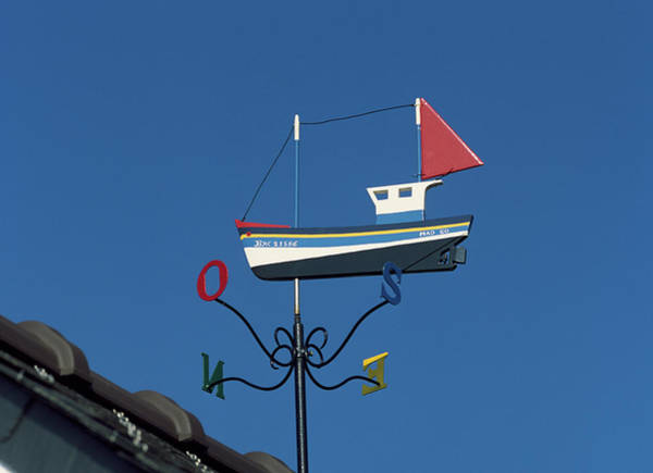 Weather Vane Photograph - Low Angle View Of Weather Vane, Creach by Panoramic Images