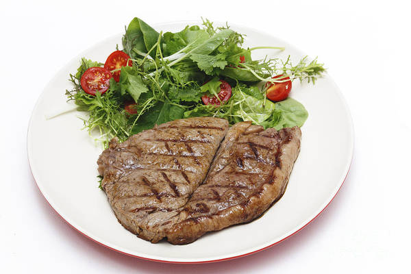 Photograph - Low Carb Steak And Salad by Paul Cowan