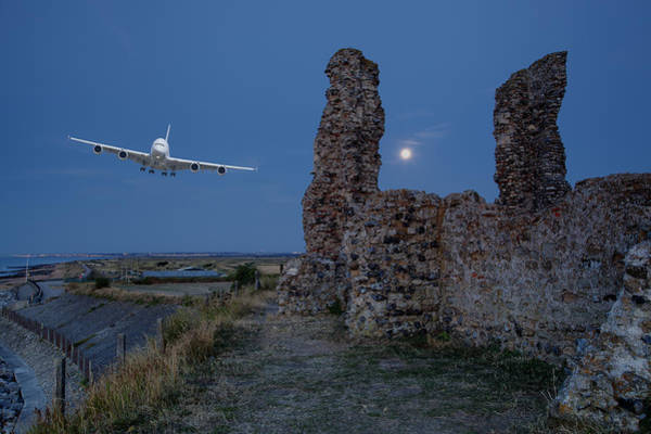 Airbus A380 Wall Art - Photograph - Low Fly by Nigel Jones