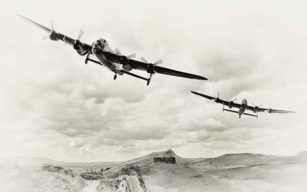 Avro Wall Art - Digital Art - Low Lancs by Peter Chilelli