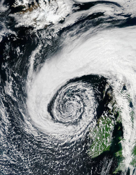 2010s Wall Art - Photograph - Low Pressure System Off Of Ireland by Jeff Schmaltz, Modis Land Rapid Response Team, Nasa Gsfc