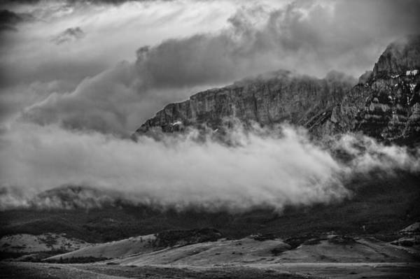 Photograph - Low Storm Clouds At The Mountain by Thomas Young