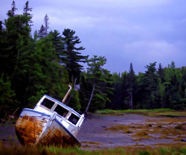 Northern Maine Wall Art - Photograph - Low Tide by Edward Fielding