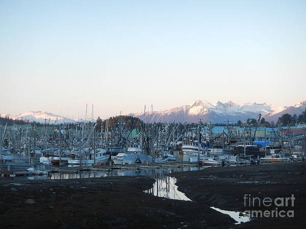 Photograph - Low Tide In Winter by Laura  Wong-Rose