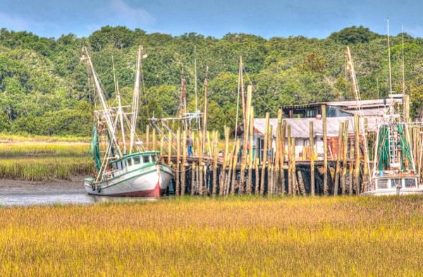 Photograph - Low Tide - Shrimp Boat by Scott Hansen