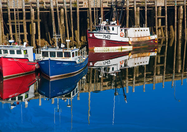 Photograph - Boats And Reflections At Low Tide On Digby Bay Nova Scotia by Ginger Wakem