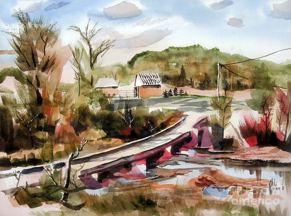Painting - Low Water Bridge Across Stouts Creek by Kip DeVore