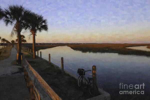 Fishing Pole Digital Art - Lowcountry Winter Marsh by Dale Powell