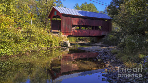 Photograph - Lower Cox Brook Covered Bridge. by New England Photography