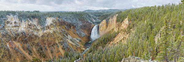 Yellowstone Canyon Photograph - Lower Falls In Fall, Yellowstone by Richard and Susan Day
