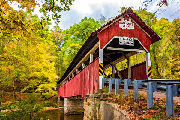 Somerset County Photograph - Lower Humbert Covered Bridge 3 Paint by Steve Harrington